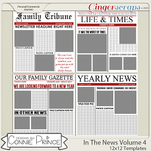 In The News Volume 4 - 12x12 Temps (CU Ok) by Connie Prince