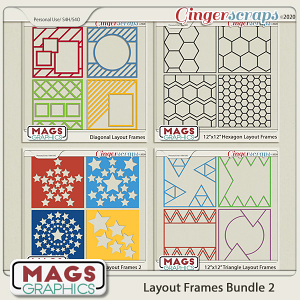 12x12 Layout Frame Template BUNDLE 2 by MagsGraphics
