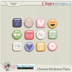 Choose Kindness Flairs by Luv Ewe Designs and Blue Heart Scraps