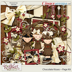Chocolate Kisses Page Kit