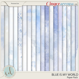 Blue Is My World Paper Pack by Ilonka's Designs
