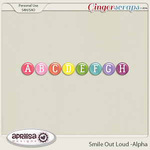 Smile Out Loud - Alpha by Aprilisa Designs