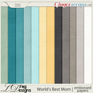 World's Best Mom: Embossed Papers by LDragDesigns