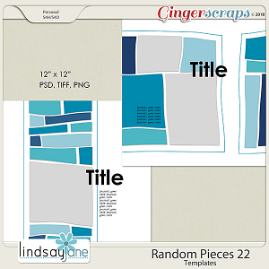 Random Pieces 22 Templates by Lindsay Jane