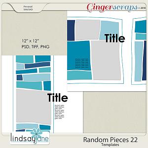Random Pieces 22 Templates by Lindsay Jane