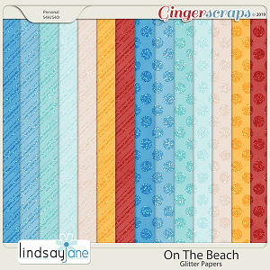 On The Beach Glitter Papers by Lindsay Jane