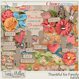 Thankful for Family Full Kit by Tami Miller Designs