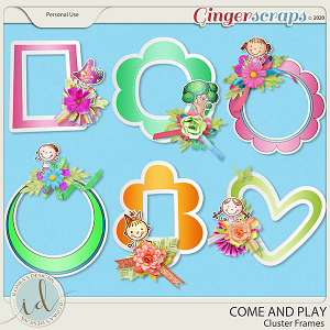 Come And Play Cluster Frames by Ilonka's Designs