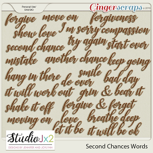 Second Chances Journaling Words