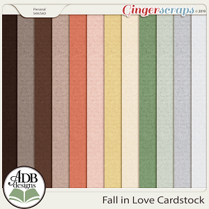 Fall in Love Cardstock Solids by ADB Designs