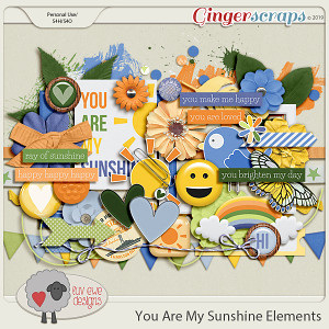 You Are My Sunshine Elements by Luv Ewe Designs