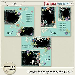 Flower fantasy Templates Vol.2