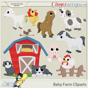 Doodles By Americo: Baby Farm Cliparts
