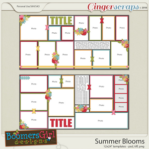 Summer Blooms Template Pack by BoomersGirl Designs