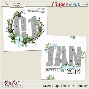 Layered Page Templates ~ January