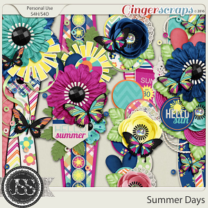 Summer Days Page Borders