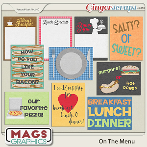 On The Menu JOURNAL CARDS by MagsGraphics