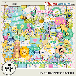 Key to Happiness Page Kit by JB Studio