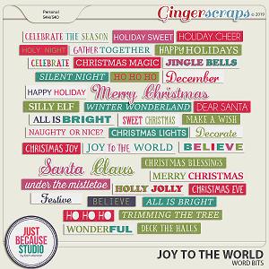 Joy To The World Word Bits by JB Studio