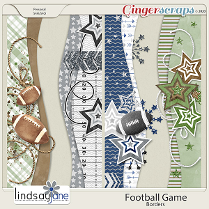 Football Game Borders by Lindsay Jane