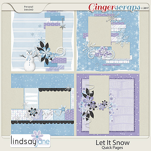 Let It Snow Quick Pages by Lindsay Jane
