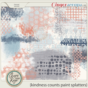 Kindness Counts Paint Splatters by Chere Kaye Designs