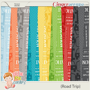 Road Trip Pattern Papers