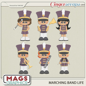 Marching Band Life PURPLE BAND by MagsGraphics
