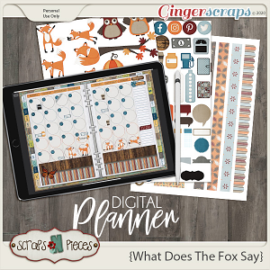 What Does The Fox Say Planner Pieces - Scraps N Pieces