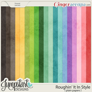 Roughin' It In Style {Plain Papers} by Jumpstart Designs