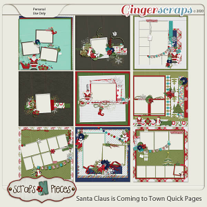 Santa Claus is Coming to Town Quick Pages by Scraps N Pieces