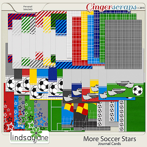 More Soccer Stars Journal Cards by Lindsay Jane