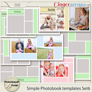 Simple Photobook templates Set 6