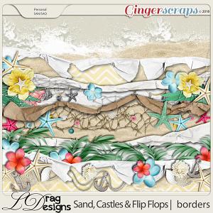 Sand, Castles & Flip Flops: Borders by LDragDesigns