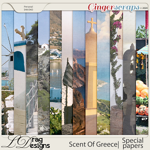 Scent Of Greece: Special Papers by LDragDesigns