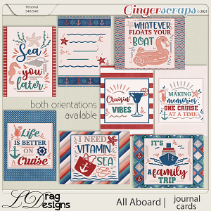 All Aboard: Journal Cards by LDragDesigns