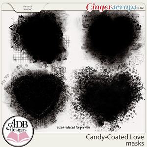 Candy-Coated Love Masks by ADB Designs