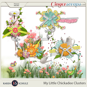 My Little Chickadee Clusters by Karen Schulz