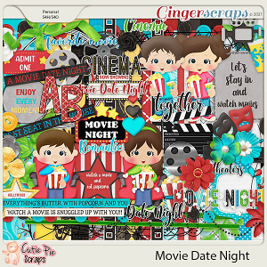 Movie Date Night Page Kit