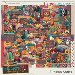 Autumn Antics by BoomersGirl Designs
