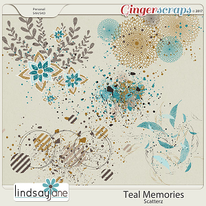 Teal Memories Scatterz by Lindsay Jane