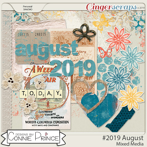 #2019 August - Mixed Media by Connie Prince