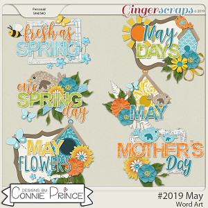 #2019 May - Word Art Pack by Connie Prince