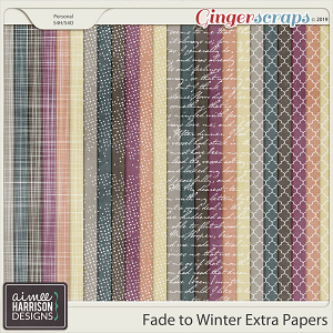 Fade to Winter Extra Papers by Aimee Harrison