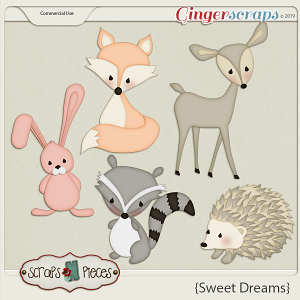 Sweet Dreams CU Layered Templates - Scraps N Pieces