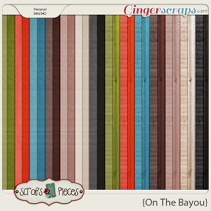 On the Bayou solids and tin textured papers by Scraps N Pieces