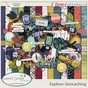 Explore: Geocaching Page Kit