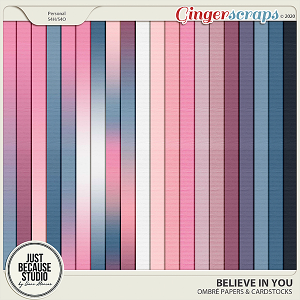 Believe In You Ombre Papers by JB Studio