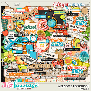 Welcome To School Page Kit by JB Studio