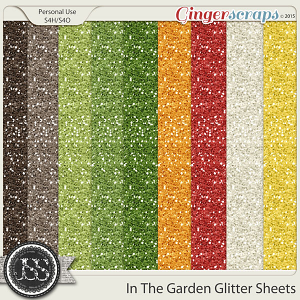 In The Garden Glitter Sheets